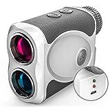 Wosports Golf Entfernungsmesser Laser USB Aufladbar Batterie Jagd Sport Golf Rangefinder, Distanz- / Geschwindigkeits- / Winkelmessung