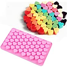 Allforhome Mini Heart Silicone Mold for Soap Embeddables Chocolate Candy Cake Decoration Moulds