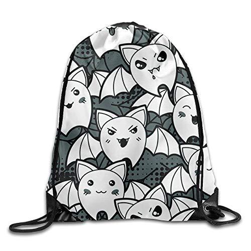 htrewtregregre Halloween Party Cool Bat Unisex Drawstring Rucksack Travel Sports Bag