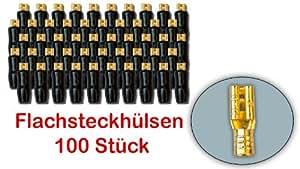 ##7623P-connecteurs électriques - 4,8 mm/fiche haut-parleur-connecteurs plaqué or-lot de 100