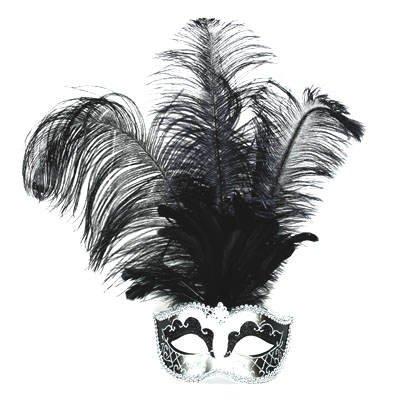 Maske Venedig mit langen Federn, (Federn Kind Mit Maske Venezianische)