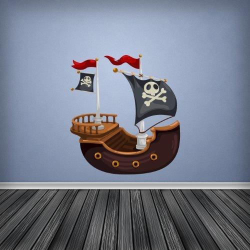 Volle Farbe Piratenschiff Jungen Schlafzimmer Kinderzimmer Wandsticker Aufkleber Kinder Schlafzimmer D� Adr - Large
