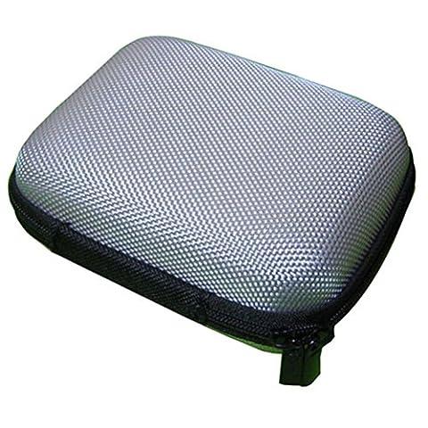 Transer® Tragbare Mini Speicher Fall Beutel Schutzhülle Case Cover Hülle Box Schutztasche für Kopfhörer Ohrhörer SD TF-Karten Kabel Bluetooth Kopfhörer (Münze Silber Fall)