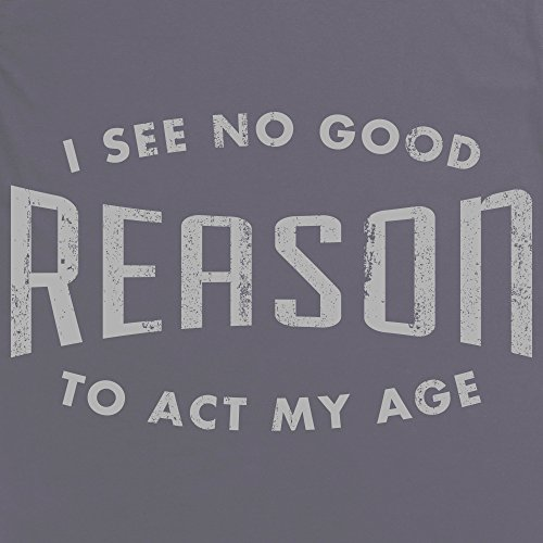 Act My Age 2 T-Shirt, Damen Anthrazit