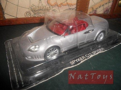 spyker-c12-spyder-silver-modellino-spider-die-cast-143-model-auto