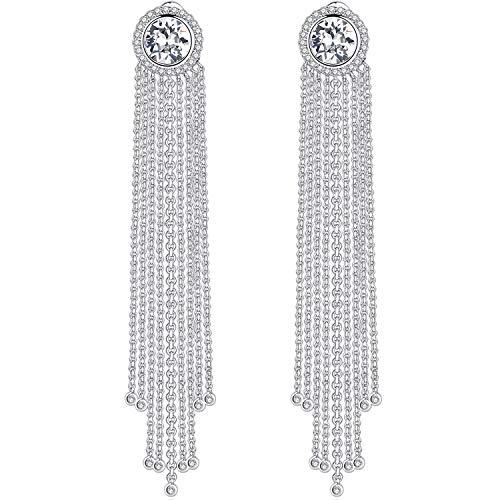 Gosparkling swarovski orecchini donna con clear cristalli swarovski gioielli prova sgs passata senza allergia - orecchini pendenti swarovski