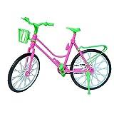Vococal Mini Kunststoff-Bike Fahrrad mit Korb für Barbie-Puppe - Kid Spielzeug - Barbie Doll Fahrrad-Zubehör-Spielzeug