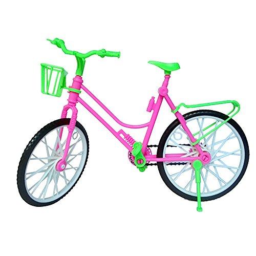 Vococal - Mini Kunststoff-Bike Fahrrad mit Korb für Barbie-Puppe - Kid Spielzeug - Barbie Doll Fahrrad-Zubehör-Spielzeug (Mini-bikes)