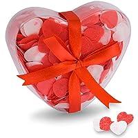 Oramics - Confettis de Bain / Sel de Bain - Forme de Coeur - Rouge & Blanc - Romantique