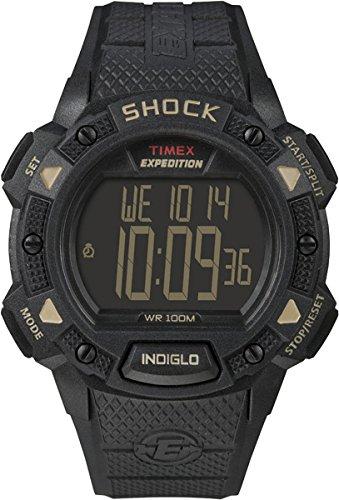 Timex Herren-Armbanduhr XL Full Pusher Shock CAT Digital Resin T49896