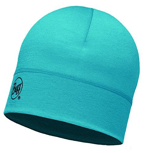 Buff Erwachsene Merino Wool 1 Layer Hat Mütze, Solid Blue Capri, One Size - Light Blue Bandana