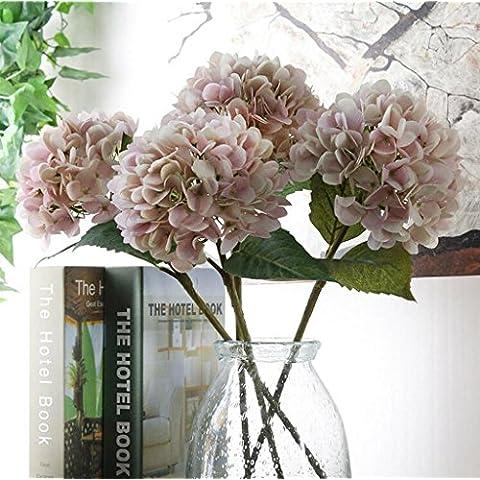 GWZ,Líneas, decoración de la mesa de alto grado de flor, hortensias, hortensias de flor artificial LINXIANBISHUIYIYUAN