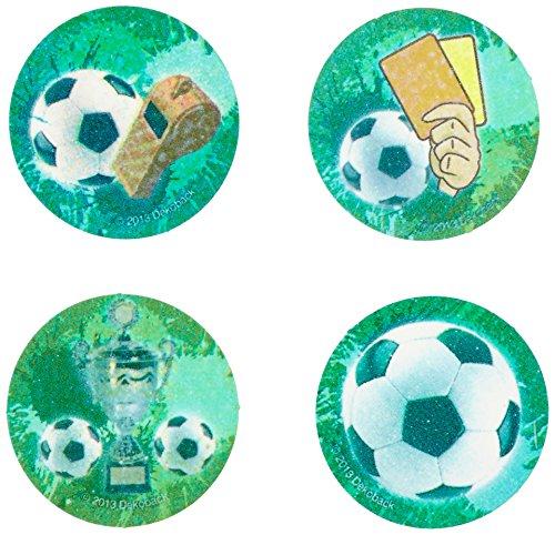 Dekoback 12 Zucker-Muffinaufleger Fußball, 1er Pack (1 x 21 g)
