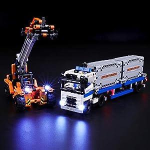 BRIKSMAX Kit di Illuminazione a LED per Lego Technic Trasporta Container,Compatibile con Il Modello Lego 42062… 0716852280506 LEGO