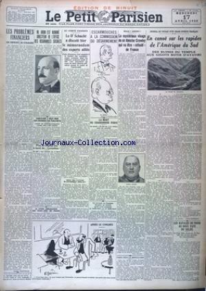 PETIT PARISIEN EDITION DE MINUIT (LE) [No 19041] du 17/04/1929