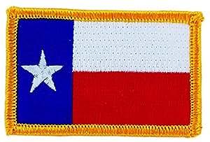 Patch écusson brodé drapeau texas thermocollant usa americain etats unis