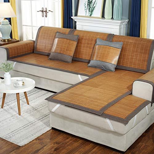 sofacover Bambus Gesteppter Sofa Abdeckung Anti-Slip Dekorative Kombination Couch Handtuch Sommer Sofa Handtuch Für Sofa,loveseat,Liege,Stuhl-b 31x59inch(80x150cm) - Bambus-stuhl-abdeckung