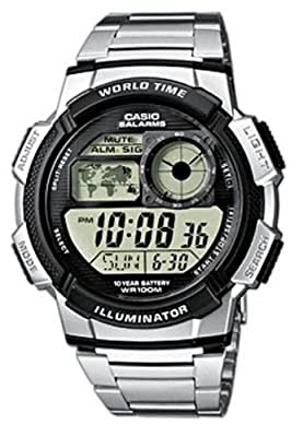 CASIO Collection AE-1000WD-1AVEF de cuarzo, correa de acero inoxidable color plata