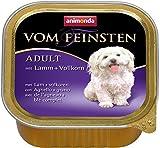 Animonda Vom Feinsten Adult, Nassfutter für ausgewachsene Hunde von 1-6 Jahren, mit Lamm + Vollkorn, 22 x 150 g