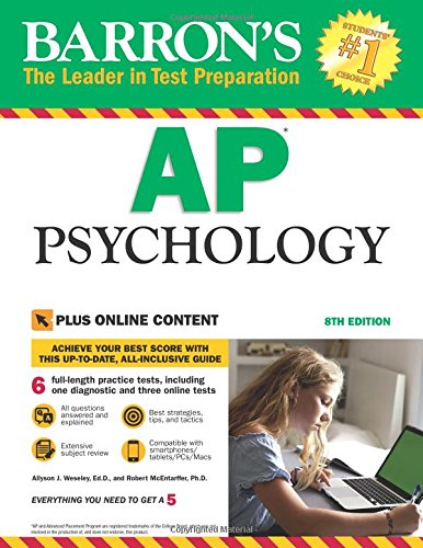 Barron's AP Psychology, with online tests (Ap Psychology Exam Review Book)