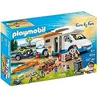 Playmobil Family Fun 9318 Camper con Quad e Canoa, dai 4 Anni
