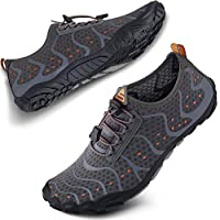 SEEKWAY Mens Womens Water Shoes Quick-Dry Aqua Sock Barefoot Athletic Sports Shoes for Outdoor Beach Swim surf Walking Diving Boating Hiking Pool SP001-402 Gray 12.5W/11.5M