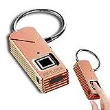 Fingerabdruck Lock–yahe tragbar Fingerabdruck Vorhängeschloss Sicherheit kein Passwort, roségold