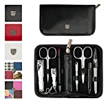 3 Swords - 8 Piece Manicure & Pedicure Case, made of high quality artificial Leather, Grade: Made in Solingen