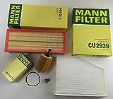 MANN-FILTER FILTER SET ÖLFILTER LUFTFILTER INNENRAUMFILTER ABLASSCHRAUBE A3 8P1 2.0 TDI