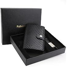 2a3202345a Porta Carta di Credito - Fabonka Porta Carte di Credito RFID Pelle PU, con  confezione