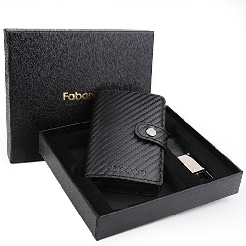 5a03096931 Porta Carta di Credito - Fabonka Porta Carte di Credito RFID Pelle PU, con  confezione