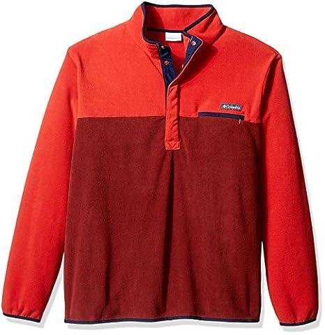 Columbia Men's Big Mountain Side Fleece, Deep Rust/Rust Red, 3X