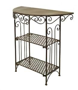 wandtisch aus metall tisch mit regal klapptisch. Black Bedroom Furniture Sets. Home Design Ideas