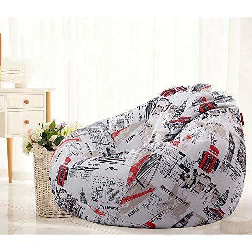 Dapang Premium Cotton Canvas Bean Bag Chair Qualitäts-Reißverschluss 100% wasserdicht für Faule Menschen,Londonlove,medium -
