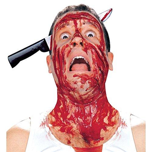 Halloween Harreif Messer im Kopf Horror Accessoire Grusel Haarreifen Kopfbedeckung Kostüm Zubehör