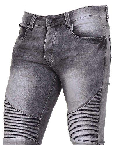 BLZ jeans - Jean gris délavé couture fantaisie Gris