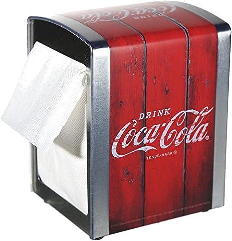 Distributeur de serviettes Coca Cola env. 14–«Drink Coca Cola» 10cm +