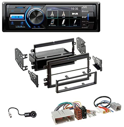 caraudio24 JVC KD-X561DBT Bluetooth MP3 USB DAB Autoradio für Ford Mustang F150 (2004-2009)