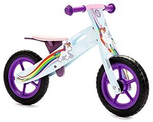 Nicko - Bicicleta de Equilibrio Infantil de Madera, para Correr o Montar en Bicicleta, para Bicicleta de Primera o de Entrenamiento (Unicornio 866)