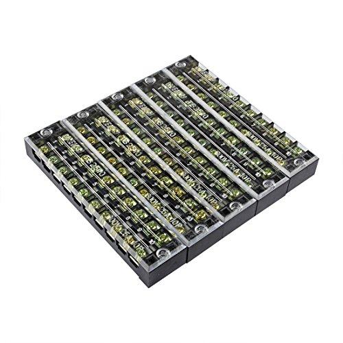 sourcingmapr-5-pcs-rangees-5-positions-double-600v-25a-fil-bornier-bornier