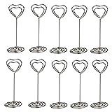 Pixnor , 10Pack mesa con forma de corazón número portadosis soportes para bodas y otras ocasiones