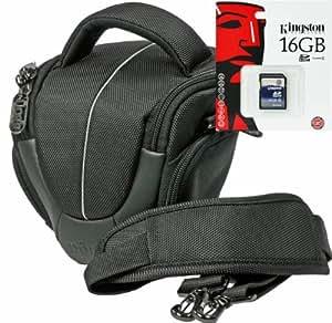 Foto Yuma Halfter XS–Set borsa per fotocamera con 16GB scheda SD per Nikon D5500D5300D5200D5100D3300D3200