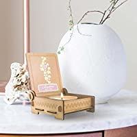 CANDLE in the BOX Sternenkinder | Trauerkerze in Holzbox mit Spruch | personalisiert mit Namen | Sterne rosa | Gedenkkerze | Andenken