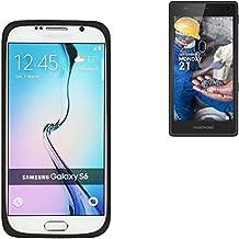 parachoques silicio / caso del anillo por Fairphone Fairphone 2, Negro | cubierta de TPU marco protector caucho de protección - K-S-Trade (TM)
