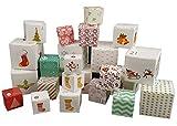 Spetebo Adventskette mit 24 Boxen - zum aufhängen, inkl. 4 Meter Schnur - Adventskalender zum selber befüllen