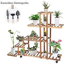 TrendLine Blumentreppe Pflanzentreppe Blumenbank Blumenregal Holz Blumenständer