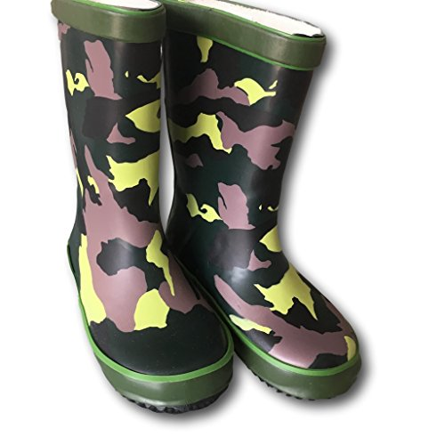 Kids Rubber Wellies - camouflage design sizes 7-12