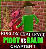 Roblox Challenge Comic 1: PIGGY vs BALDI Minecraft (English Edition)
