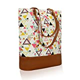 Best Tote Purse - Kleio Women's Canvas PU Big Tote Bags(White, ECO2009KL-TRI) Review