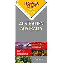 Carte de voyage Australie 1 : 4 Mio